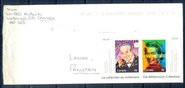 J428- Postal Used Cover. Posted From Canada To Pakistan. Millennium. Famous People. Music. - Canada