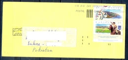 J429- Postal Used Cover. Posted From Canada To Pakistan. Hours. Animals. Plants. Tree. Mountains. - Canada