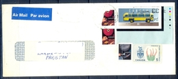 J430- Postal Used Cover. Posted From Canada To Pakistan. Plants. Transport. Buss. - Canada