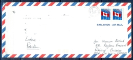 J431- Postal Used Cover. Posted From Canada To Pakistan. Flag. - Canada