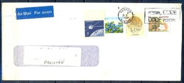 J433- Postal Used Cover. Posted From Canada To Pakistan. Space. Plants. Flowers. - Canada