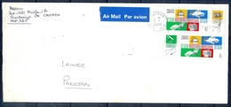 J434- Postal Used Cover. Posted From Canada To Pakistan. Industriel Design. - Canada