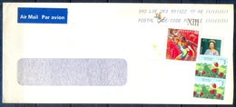 J437- Postal Used Cover. Posted From Canada To Pakistan. Sports. Games. Queen. Strawberry. - Canada