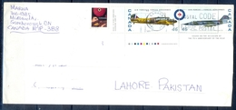 J438- Postal Used Cover. Posted From Canada To Pakistan. 75th Anniversary Of RCAF. Air Forcse. Aeroplane. - Canada