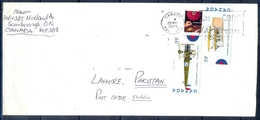 J440- Postal Used Cover. Posted From Canada To Pakistan. 75th Anniversary Of RCAF. Air Forcse. - Canada