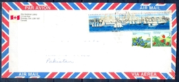 J442- Postal Used Cover. Posted From Canada To Pakistan. Ship. Plants. Tree. Strawberry. Blueberry - Canada