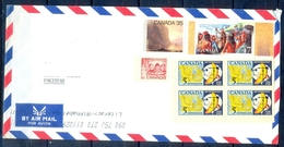 J443- Postal Used Cover. Posted From Canada To Pakistan.Meteorology. Ship. Christmas. Thr Great Peace Of Montreal 1701-2 - Canada