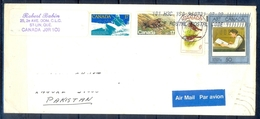 J444- Postal Used Cover. Posted From Canada To Pakistan. Birds. Animals. Sports. Famous People. - Canada