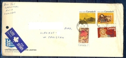 J446- Postal Used Cover. Posted From Canada To Pakistan. Plants. Famous People. - Canada