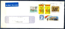 J447- Postal Used Cover. Posted From Canada To Pakistan. Queen. Ship. Sports. Games. Fruits Of The Earth. - Canada