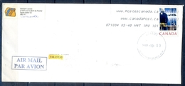 J449- Postal Used Cover. Posted From Canada To Pakistan. Capt Vancouver 1775-2007. - Canada