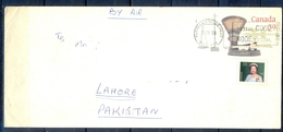 J451- Pre-Stamped Postal Used Cover. Posted From Canada To Pakistan. Queen. - Canada