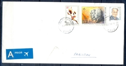 J482- Postal Used Cover. Posted From Belgie Belgium To Pakistan. Flag. Famous People. - Belgium