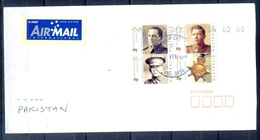 J485- Postal Used Cover. Posted From Belgie Belgium To Pakistan. Australian Legends. Famous People. - Belgium
