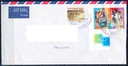 J486- Postal Used Cover. Posted From Australia To Pakistan. Crocodile. Reptiles. Festival. - Australia