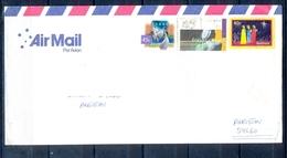 J489- Postal Used Cover. Posted From Australia To Pakistan.Cartoon. Birds. Brolga. Breast Cancer. - Australia