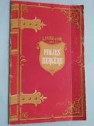 Livre D'OR Des FOLIES BERGERE ( Bergère ) Anno 1949 ( Imp. Maison Rapide Paris 9 - Zie Foto Details ) !! - Programma's