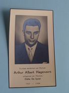 DP (Dankbetuiging) Arthur Albert HAGENAERS ( Odile De Kyser ) 1927 - 1954 ( Antwerpen ) ! - Avvisi Di Necrologio