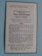 DP ++ (Dankbetuiging) Maria QUARTEER ( Petrus Jan SPAAPEN ) Antwerpen 29 Jan 1891 - 25 Feb 1954 ! - Avvisi Di Necrologio