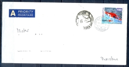 J497- Postal Used Cover. Posted From Helvetia Switzerland To Pakistan. 3D Stamp. Hale-copter. - Switzerland