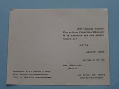 HEIDI Doop MORTSEL 10 Mei 1961 ( Vermuyten-Hermans ) ! - Birth & Baptism