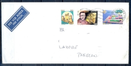 J500- Postal Used Cover. Posted From Helvetia Switzerland To Pakistan. Castles. Famous People. - Switzerland