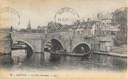 Amiens - Le Pont Baraban, Barque D'Hortillonneur - Carte LL N° 79 - Amiens