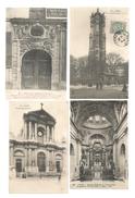Cp ,75 , PARIS , 2 Scans , LOT DE 8 CARTES POSTALES , CPA - Cartes Postales