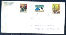 J519- Postal Used Cover. Posted From Greece To Pakistan. Plants. Trees. Dance. - Greece