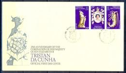 J523- Tristan Da Cunha 1978. Queen Elizabeth II Coronation 25th Anniversary. - Tristan Da Cunha