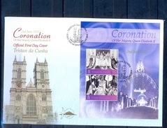 J524- Tristan Da Cunha 2003. Coronation Anniversary. Queen Elizabeth II. Miniature Sheet. - Tristan Da Cunha