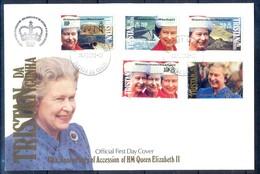 J528- Tristan Da Cunha 1992. Queen Elizabeth IIs Accession To The Throne, 40th Anniversary. - Tristan Da Cunha