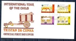 J531- Tristan Da Cunha 1979. Complete Set Of 4 International Year Of The Child. Painting. - Tristan Da Cunha