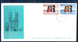 J532- Tristan Da Cunha 1972. Royal Silver Wedding - Tristan Da Cunha