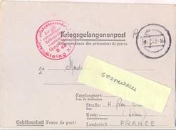 GUERRE 39-45 CORRESPONDANCE DES PRISONNIERS DE GUERRE  STALAG XIII A   GEPRÜFT D 48 Bad Sulzbach - Rédigé Le 17-1-43 - Guerra De 1939-45
