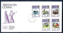 J536- Tristan Da Cunha 1980. London 1980 Complete Set. Tractar. Transport. Ship - Tristan Da Cunha
