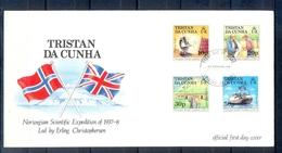 J538- Tristan Da Cunha 1987. Norwegian Scientific Expedition, 50th Anniversary. Flag - Tristan Da Cunha