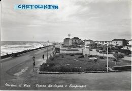 Toscana-pisa-marina Di Pisa  Veduta Piazza Sardegna E Lungomare Anni 50 - Italia