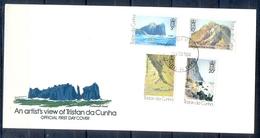 J540- Tristan Da Cunha 1980. Views (Sketches By Roland Svensson) - Tristan Da Cunha