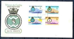 J541- Tristan Da Cunha 1977. Royal Naval Ships And Coat Of Arms. Animals. - Tristan Da Cunha