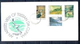J542- Tristan Da Cunha 1976 Paintings By Roland Svensson. Mountains. Plants. Flowers. - Tristan Da Cunha