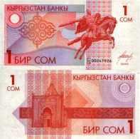 Kirghizistan - Kyrgyztan  1 SOM (1993) Pick 4 NEUF - Kyrgyzstan
