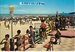 Puglia-barletta Citta' Spiaggia Di Levante Veduta Bella Animatissima Anni 70 - Barletta