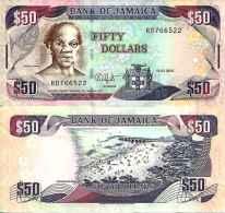 Jamaïque - Jamaica 50 DOLLARS (2010) Pick 83e - UNC - Giamaica