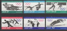 DDR / Olympische Winterspiele 1972 Sapporo / MiNr. 1725-1730 - [6] République Démocratique