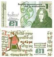 Irlande - Irelande - 1 POUND 10/10/1988  - Pick 70d NEUF (UNC) - Irlande