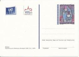 1995 Unused Pre Paid Postcard Hundertwasser Socialgipfel 1995 - Centre International De Vienne