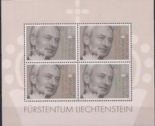 2015 Liechtenstein Mi. Bl 27  **MNH   70. Geburtstag Von Fürst Hans Adam II. - Blocks & Sheetlets & Panes