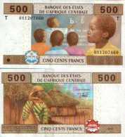 Central Africa States - Congo 500 FRANCS (2002) Pick 106T UNC - Zonder Classificatie
