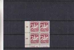 Lituanie - Yvert  376 ** - MNH - En Bloc De 4 - Avec Chiffres Et Inscriptions Dans Le Bord De Feuille - Lithuania